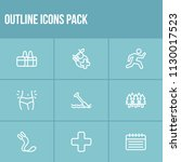 activity icon set and training...