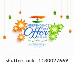 illustration sale banner or... | Shutterstock .eps vector #1130027669