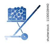 tennis cart ball icon. flat... | Shutterstock .eps vector #1130028440