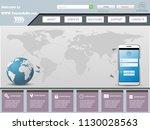 vector website template design...