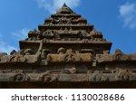 mahabalipuram  tamil nadu ... | Shutterstock . vector #1130028686