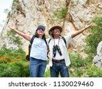 senior couple travel together... | Shutterstock . vector #1130029460