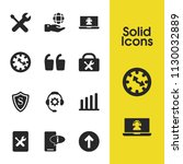 service icons set with book...