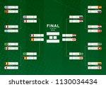 championship bracket with flag... | Shutterstock .eps vector #1130034434