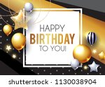 happy birthday  celebration ... | Shutterstock .eps vector #1130038904