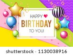 happy birthday  celebration ... | Shutterstock .eps vector #1130038916