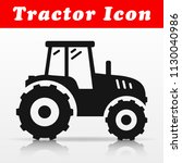 illustration of black tractor... | Shutterstock .eps vector #1130040986
