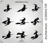 halloween witch icon vector | Shutterstock .eps vector #1130041739