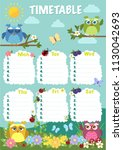 he timetable is the schedule of ... | Shutterstock .eps vector #1130042693