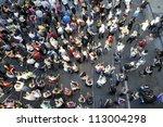 toronto june 28   protesters... | Shutterstock . vector #113004298