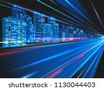 abstract night city background... | Shutterstock .eps vector #1130044403