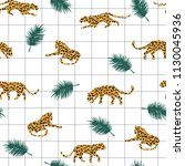 seamless exotic pattern with... | Shutterstock .eps vector #1130045936