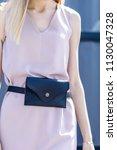 beautiful slim model in a dress ... | Shutterstock . vector #1130047328