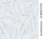 seamless pattern with blooming...   Shutterstock .eps vector #1130047376