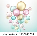 3d multicolored decorative... | Shutterstock .eps vector #1130049554