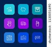 modern  simple vector icon set... | Shutterstock .eps vector #1130051690