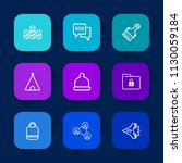 modern  simple vector icon set... | Shutterstock .eps vector #1130059184