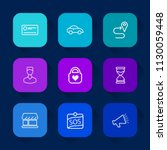 modern  simple vector icon set... | Shutterstock .eps vector #1130059448