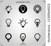 light bulb icon vector   Shutterstock .eps vector #1130064023