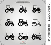 tractor icon vector | Shutterstock .eps vector #1130064050