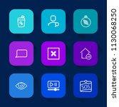 modern  simple vector icon set... | Shutterstock .eps vector #1130068250