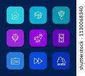 modern  simple vector icon set... | Shutterstock .eps vector #1130068340