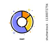 icon of pie chart with 3... | Shutterstock .eps vector #1130072756