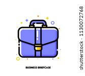 icon of briefcase for business...   Shutterstock .eps vector #1130072768