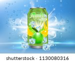 apple tonic aluminum can... | Shutterstock .eps vector #1130080316