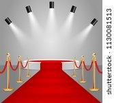 spotlights and white round... | Shutterstock .eps vector #1130081513