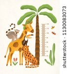 children's height wall chart in ... | Shutterstock .eps vector #1130083073