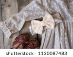 headband with bow for little... | Shutterstock . vector #1130087483