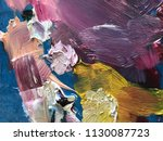 palette with paints and palette ... | Shutterstock . vector #1130087723
