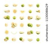 big set of sweet grapefruit... | Shutterstock . vector #1130088629