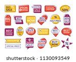 collection of labels isolated... | Shutterstock .eps vector #1130093549