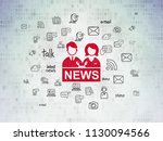news concept  painted red...   Shutterstock . vector #1130094566