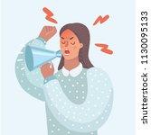 vector cartoon funny... | Shutterstock .eps vector #1130095133