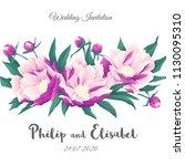 vintage wedding invitation...   Shutterstock .eps vector #1130095310
