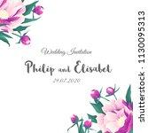 vintage wedding invitation...   Shutterstock .eps vector #1130095313
