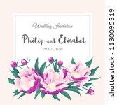 vintage wedding invitation...   Shutterstock .eps vector #1130095319