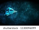 vacation concept  pixelated... | Shutterstock . vector #1130096099