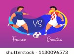 a duel of football teams. a... | Shutterstock .eps vector #1130096573