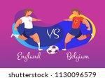 a duel of football teams. a... | Shutterstock .eps vector #1130096579