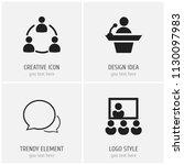 set of 4 editable team icons....