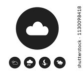 set of 5 editable climate icons....