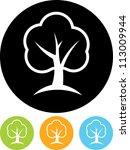green tree   vector icon... | Shutterstock .eps vector #113009944