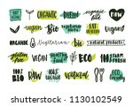 collection of organic labels...   Shutterstock .eps vector #1130102549