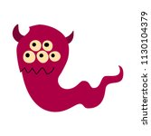 cartoon flat red monster icon.... | Shutterstock .eps vector #1130104379