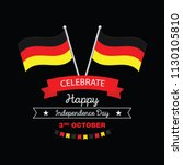 germany happy unity day  3 rd... | Shutterstock .eps vector #1130105810
