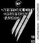nyc  new york  stock vector... | Shutterstock .eps vector #1130120033